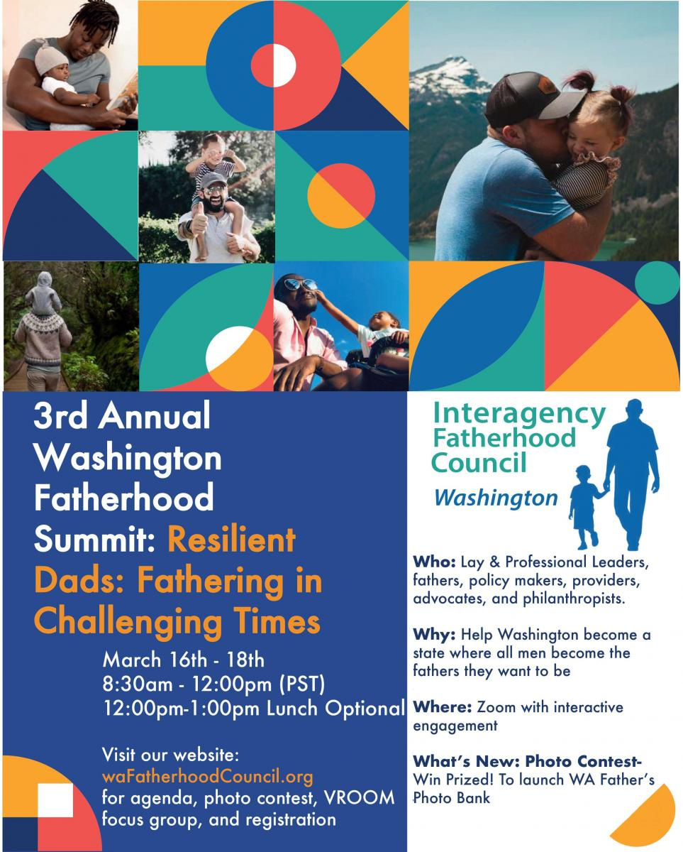 Flyer for the 2021 Washington Fatherhood Summit - Page 1