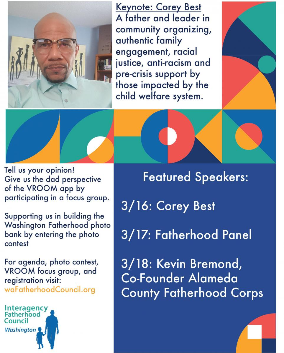 Flyer for 2021 Washington Fatherhood Summit - Page 2